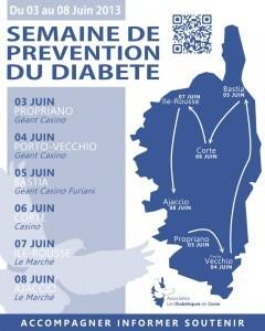 Semaine nationale de prévention du diabète à partir de lundi