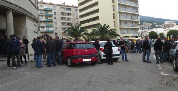 Rassemblement de soutien devant le Commissariat de Bastia