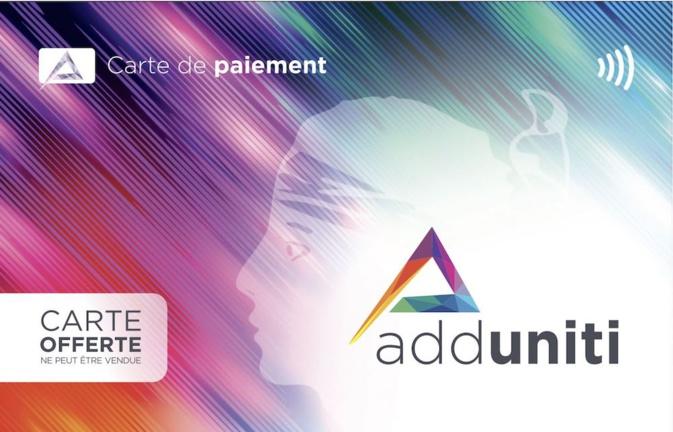 Adduniti, la carte prépayé en réseau.