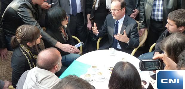 Le collectif du 5-Mai lors de sa rencontre avec François Hollande