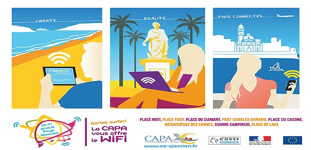 Ajaccio : Sortez, surfez la Capa vous offre le wifi