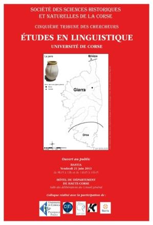 Bastia : La tribune des chercheurs en linguistique
