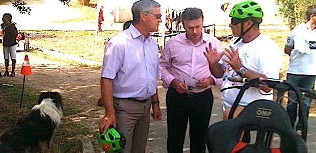 Le préfet de Corse Patrick Strzoda et Jean-Louis Luciani, président du CSJC étaient sur place (DR)