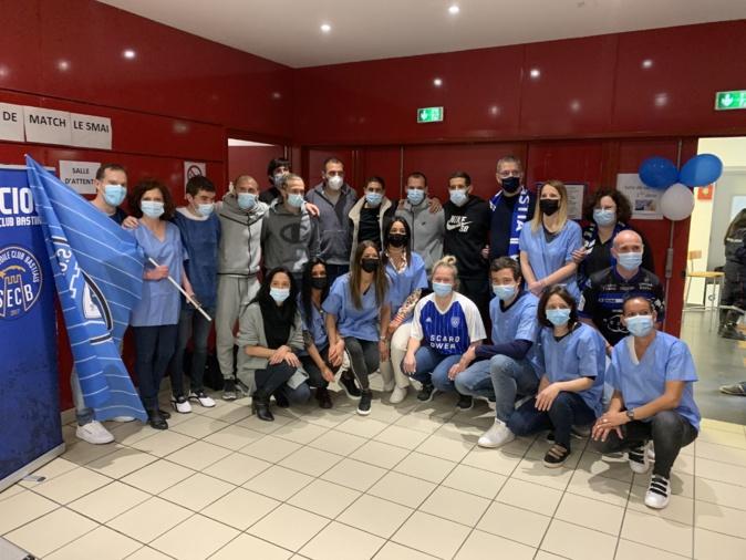 VIDEO - Covid-19 : les joueurs du SC Bastia solidaires des soignants