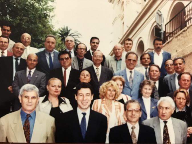 Le conseil municipal de Bastia de 1995. Paule Graziani est au centre derrière Emile Zuccarelli (DR)