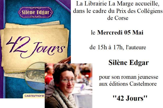 Prix des Collégiens de Corse : Silène Edgar à la librairie la Marge d'Ajaccio