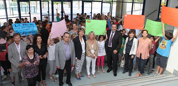 Les élèves de l'école d'Afa mobilisés / Photo Marilyne SANTI