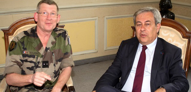 Le général Maurin et un Etat-Major de l'OTAN à Calvi