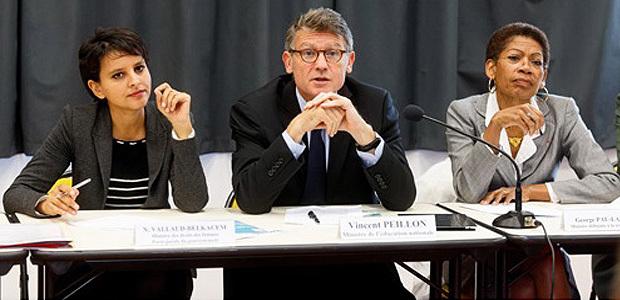 Le dispositif expérimental a été initié par Vincent Peillon, ministre de l'Education Nationale et Najat-Vallaud-Belkacem, ministre des Droits des femmes