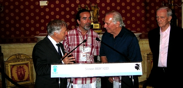 Laurent Dragoni et les Corses de Puerto Rico ont été honorés par le Maire d'Ajaccio Simon Renucci et Edmond Simeoni, au cours d'une cérémonie, jeudi à la mairie d'Ajaccio. (Photo : Yannis-Christophe Garcia)