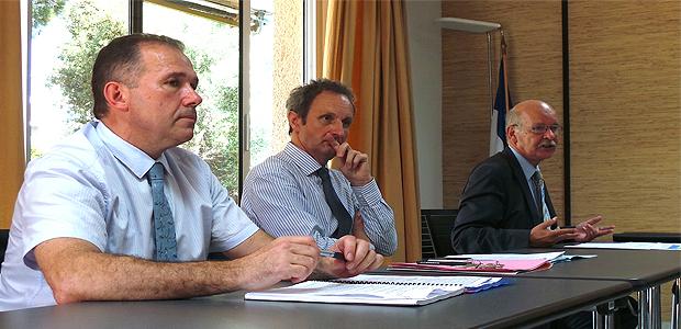 Philippe Tejedor, Alain Rousseau, Francis Lepigouchet.