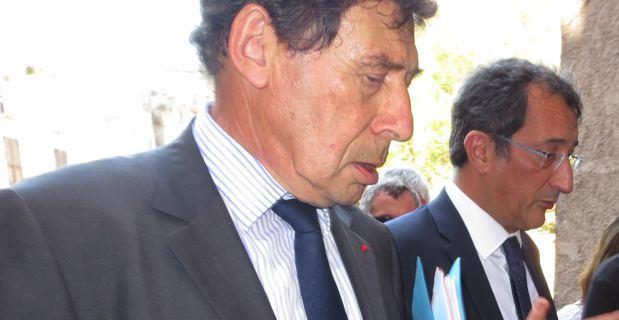 Emile Zuccarelli, maire de Bastia, et François Lamy, ministre délégué à la ville.