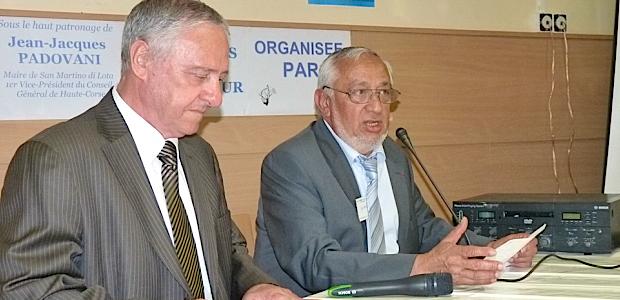 Jacky Padovani (à gauche) en compagnie de Jean Grazi, président du Comité de coordination des corses de l'extérieur