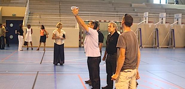 Les élus ont visité le complexe sportif de Calvi-Balagne