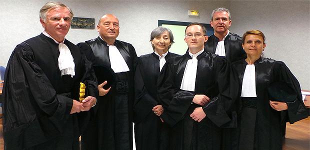 Frédéric Rémy (4e à partir de la gauche) : un nouveau magistrat à la chambre régionale des comptes