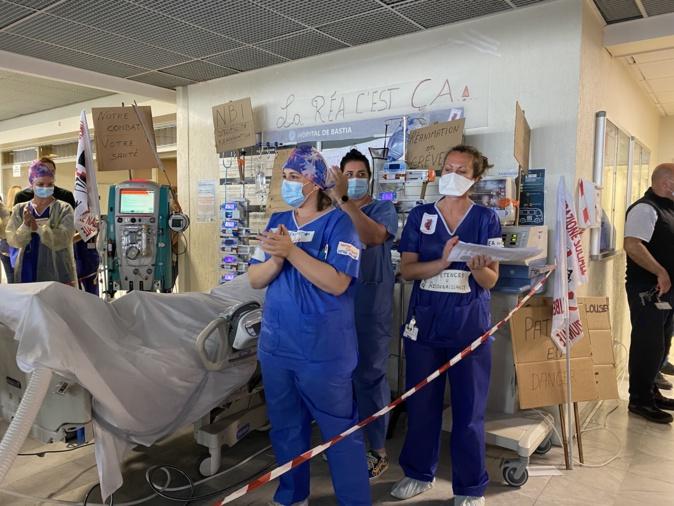 Le personnel de la réanimation de l'hôpital de Bastia a rejoint un mouvement de grève national.