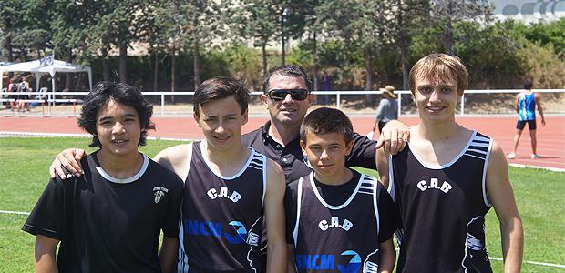 Les recordmen de Corse avec leur entraineur Bruno Guillard