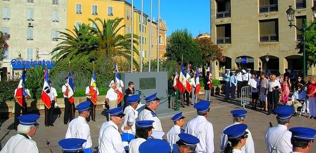 La cérémonie du 73é anniversaire de l'Appel du 18 juin 1940 du Général de Gaulle, s'est déroulée mardi à Ajaccio en présence des anciens combattants et de nombreux officiels. (Photo : Yannis-Christophe Garcia)