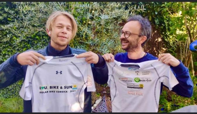 """Matthieu Chanfreau et Nicolas Defives, feront le tour de la Corse pour l'association """"Rien ne nous a-RETT-era""""."""