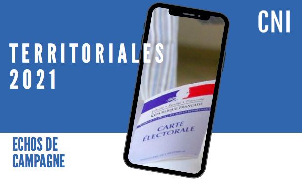 Territoriales 2021 : échos de campagne du 13 mai 2021