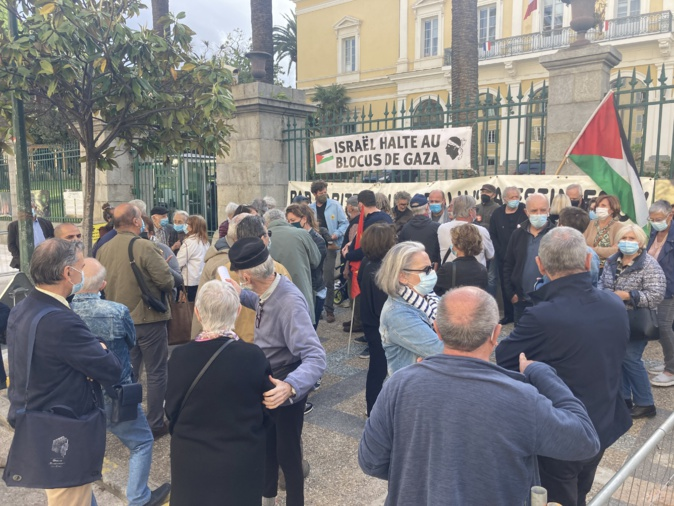 Ajaccio : un rassemblement de soutien au peuple palestinien