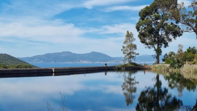 La photo du jour : la baie d'Ajaccio vu depuis le barrage de Coti