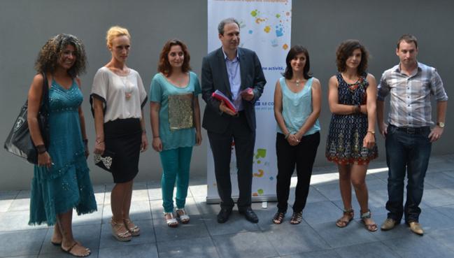 Jean Zuccarelli le président de l'Adec en compagnie des candidats