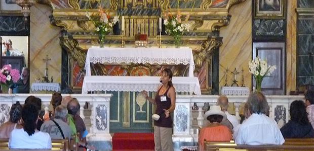 Santa Lucia expliquée aux touristes : c'était lors de la première Festa paesana