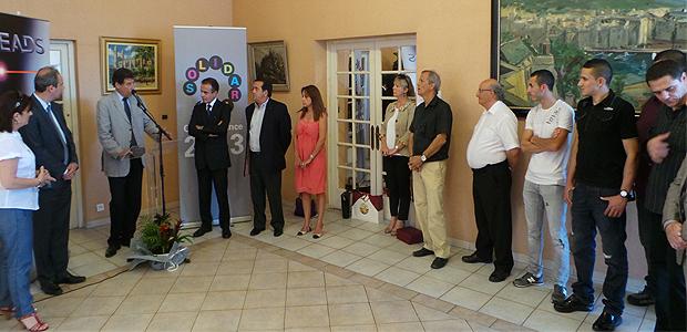 Emile Zuccarelli, maire de Bastia, Paul Giudicelli, adjoint délégué aux Sports de la Communauté d'Agglomération, les présidents Bartoli et Orsatelli ont réservé un accueil chaleureux à l'Ambassadeur du Qatar.