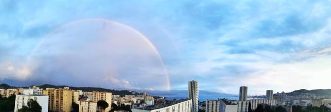 La photo du jour : arc-en-ciel sur la baie d'Ajaccio