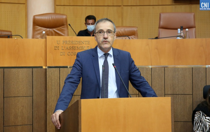 Jean-Guy Talamoni, président de l'Assemblée de Corse. Photo Michel Luccioni.