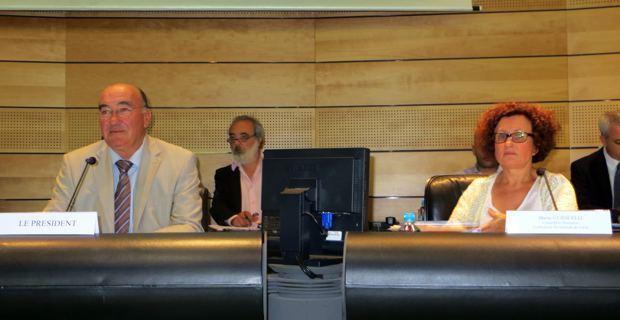 Joseph Castelli, président du Conseil général de Haute Corse, et Maria Guidicelli, conseillère exécutive en charge du PADDUC.