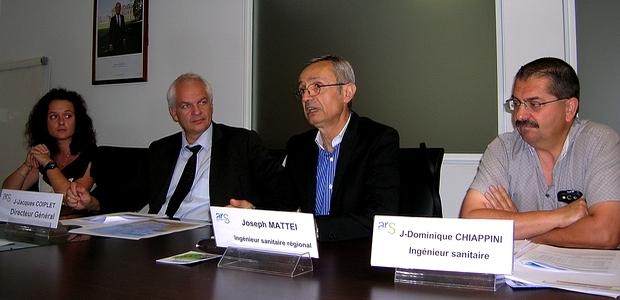 Les bons résultats des eaux de baignade en Corse pour l'année 2012 et le bilan provisoire pour 2013 ont été dévoilés mercredi matin, lors d'une conférence de presse à l'ARS. (Photo : Yannis-Christophe Garcia)