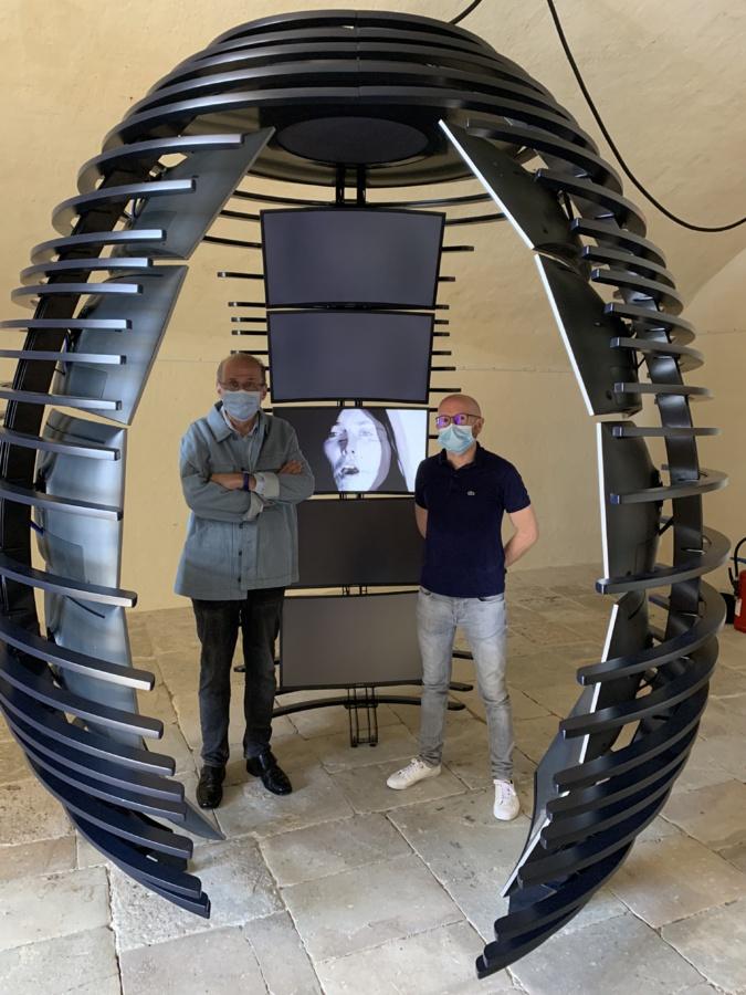 Philippe Peretti, adjoint délégué au patrimoine, et Sylvain Gregori, directeur du musée, à pied... d'oeuvres...