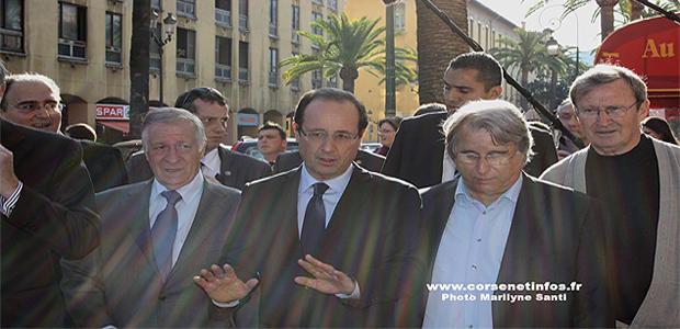 François Hollande à Ajaccio en Mars 2012