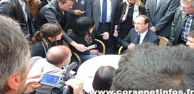 Malgré les soutiens exprimés par le candidat Hollande, à Bastia en mars 2012 …