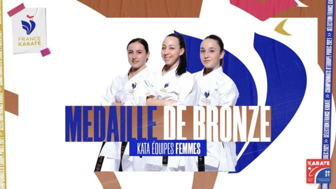 Championnats d'Europe de Katas : Laetitia Feracci et Laura Pieri en bronze avec l'équipe de France