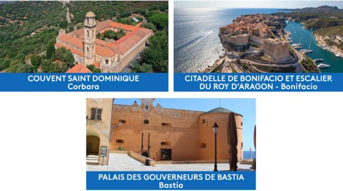 En Corse, trois sites en lice pour devenir « Le Monument préféré des Français »
