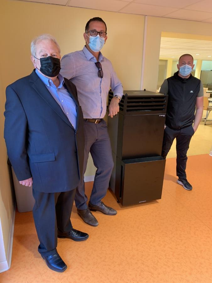 Michel Simonpietri et Louis Pozzo di Borgo ont présenté ce système high-tec