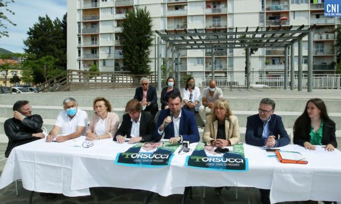 Jean-Charles Orsucci a présenté son programme place Jean Casili à Ajaccio. Photo : Michel Luccioni