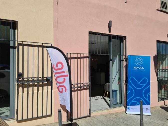 L'entrée de la fabrique à projets Avvià, 3 cours Favale à Bastia. Crédits Photo : Pierre-Manuel Pescetti