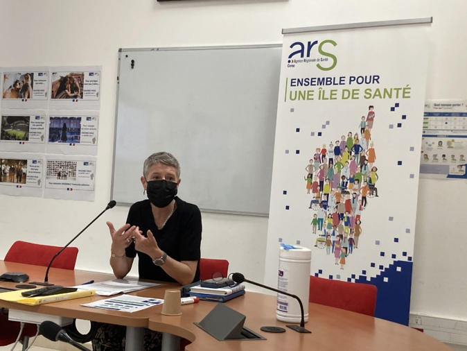 La directrice de l'ARS Marie-Hélène Lecenne ce mardi 1er juin. Photo : Julia Sereni