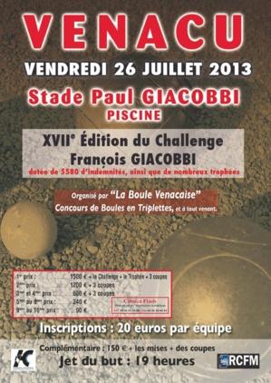 Pétanque : Le challenge François-Giacobbi en nocturne à Venaco
