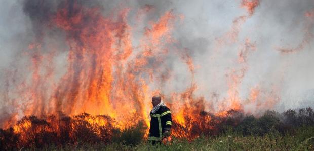 Violent incendie à la sortie de Calvi