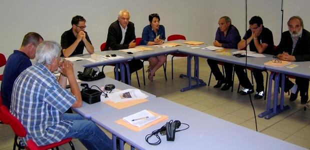 Les partenaires actifs de la lutte sanitaire anti-moustiques, réunis jeudi à Ajaccio dans les locaux de l'ARS. (Photo : Yannis-Christophe Garcia)