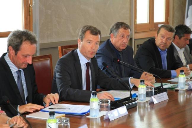 Alain Rousseau, Christophe Mirmand, Paul Trojani et Antoine Mondoloni.