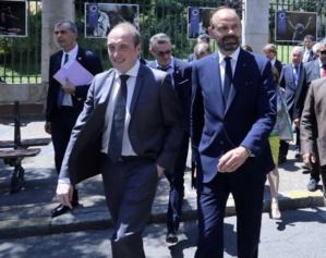 Dans les rues d'Ajaccio avec Laurent Marcangeli en juillet 2019.