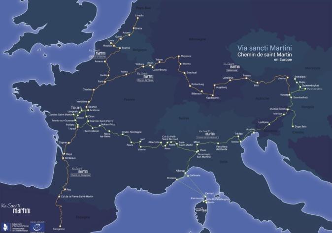 Les chemins de la Via Sancti Martini, Itinéraire culturel européen saint Martin de Tours.