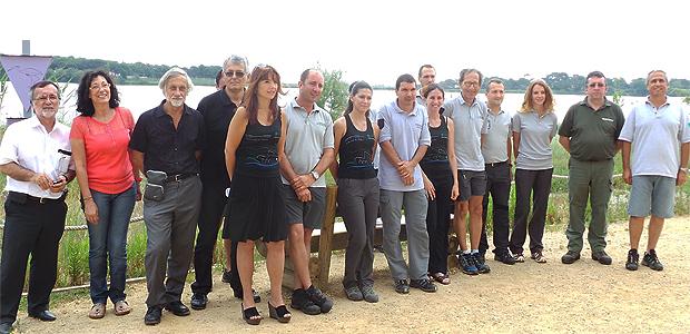 Les représentants de l'ensemble des services du conseil général de la Haute-Corse concernés par la sauvegarde de l'environnement