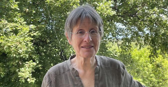 """Agnès Simonpietri, chef de file de la liste """"Ecologia sulidaria"""" pour les élections territoriales des 20 et 27 juin en Corse. Photo CNI."""